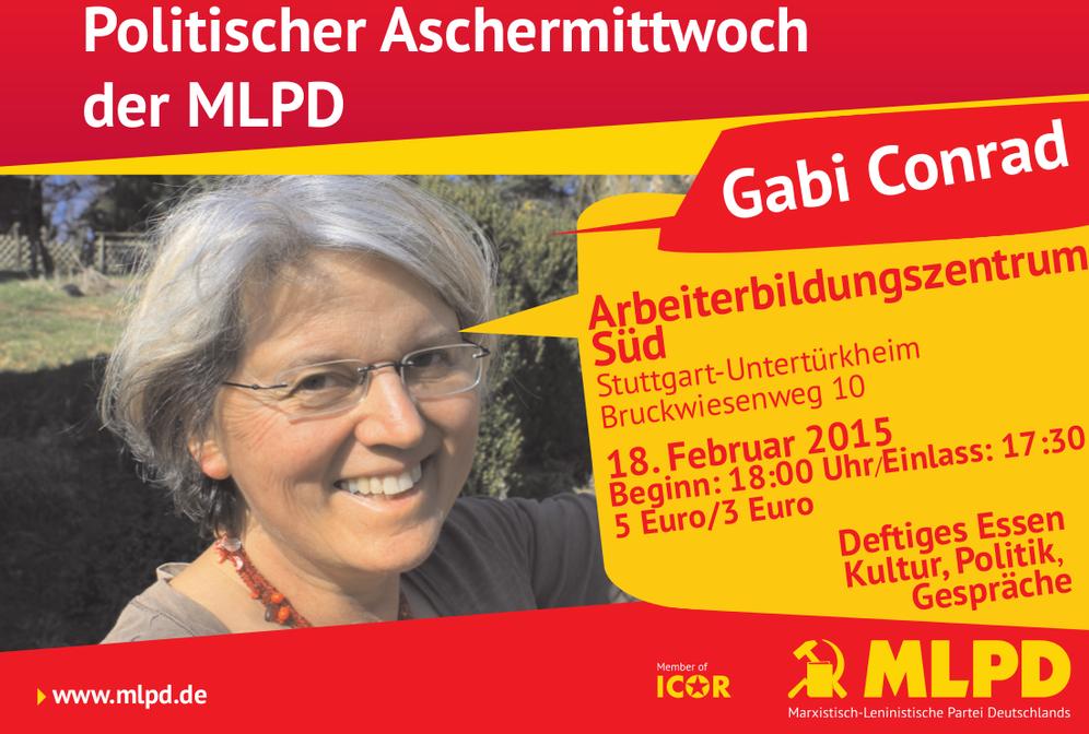 Politischer Aschermittwoch der MLPD: Spitze Zunge und Feder auch in Stuttgart