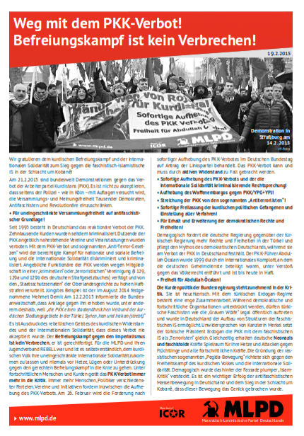 Auf die Straße gegen das Verbot der PKK