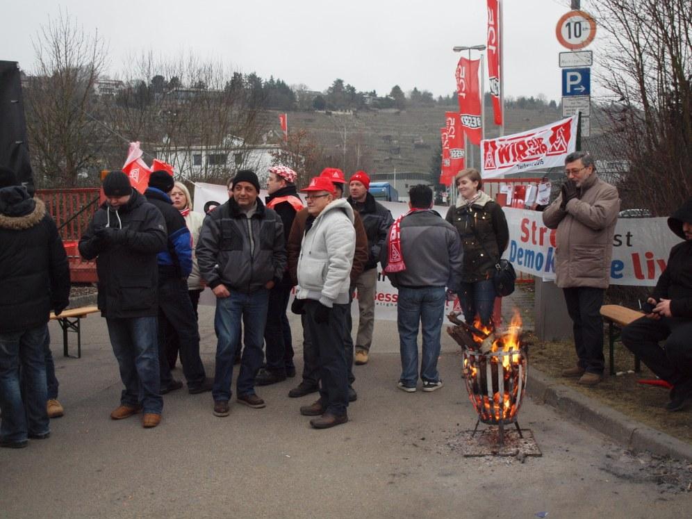 Streik bei Bessey-Stahl für einen Tarifvertrag