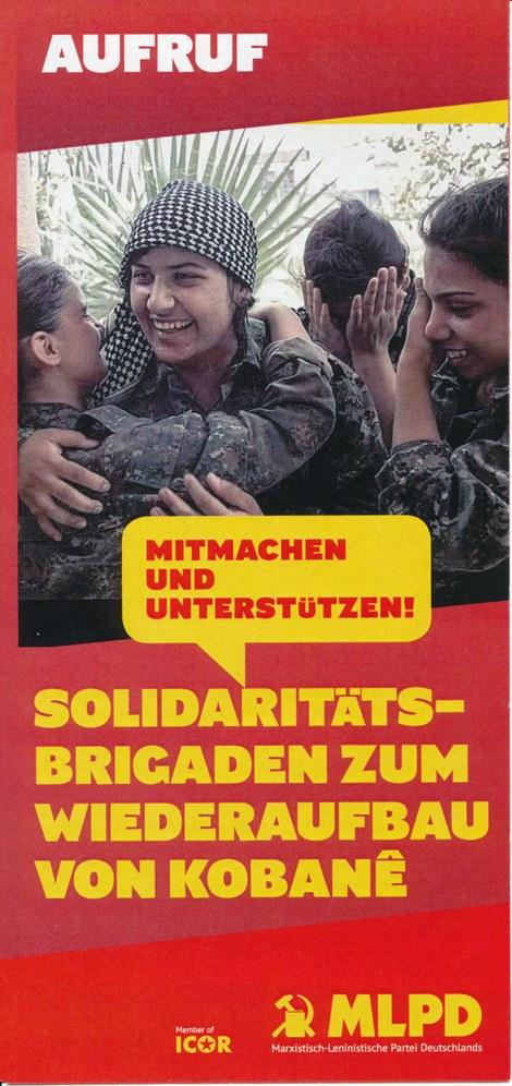 ICOR-Solidaritätsbrigaden nach Kobanê nehmen Gestalt an