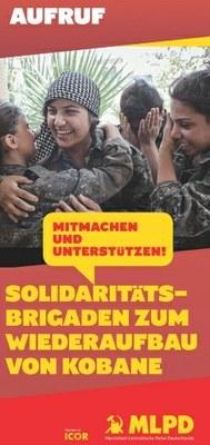 Wiederaufbau von Kobanê – ICOR-Brigaden helfen