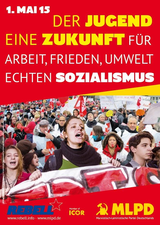Plakat und Aufkleber der MLPD zum 1. Mai erschienen