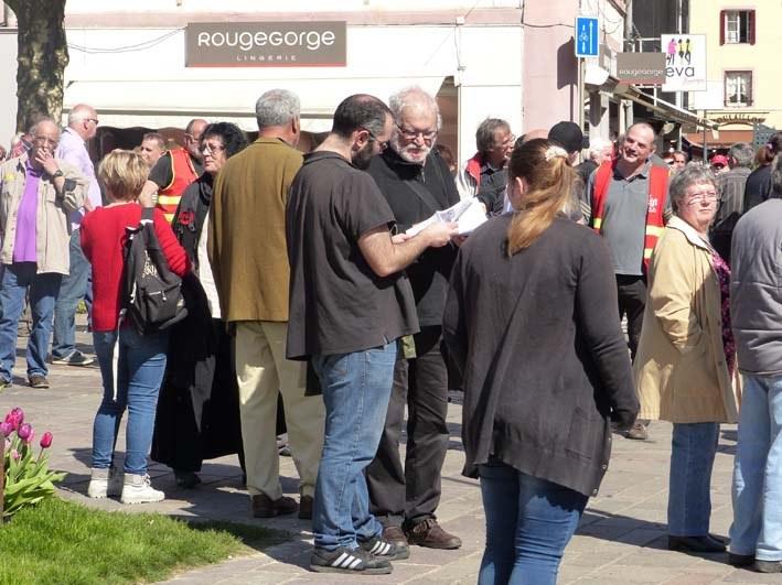 Sochaux / Frankreich: IAC-Werbung am Aktionstag