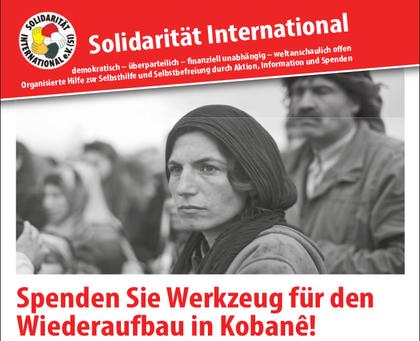 """""""Spenden Sie Werkzeug für den Wiederaufbau in Kobanê!"""""""