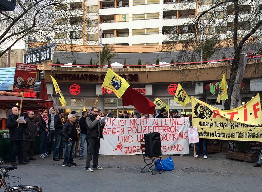 Berlin und Nürnberg: Proteste gegen Verhaftung türkischer Genossen