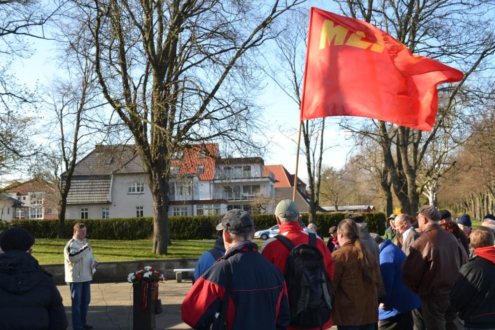 Ehrung von Ernst Thälmann in Stralsund