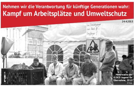 Flugblatt der MLPD zur Einheit von kämpferischer Arbeiter- und Umweltbewegung erschienen