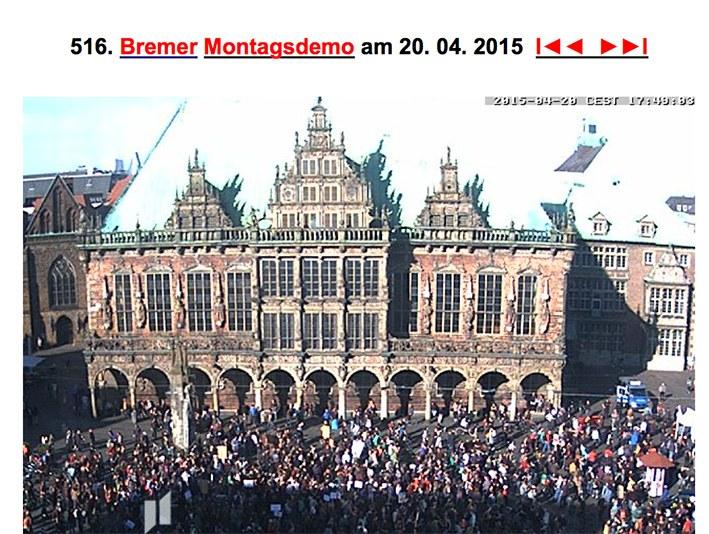 Bremen: Schulterschluss von Montagsdemo und Flüchtlingssolidarität