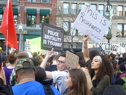 """""""No Justice - no Peace"""" - Proteste in zahlreichen US-Städten gegen Polizeiwillkür und Rassismus"""