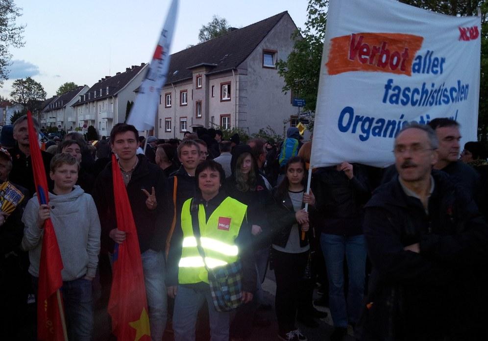 Antifaschisten siegreich gegen Faschistenmarsch