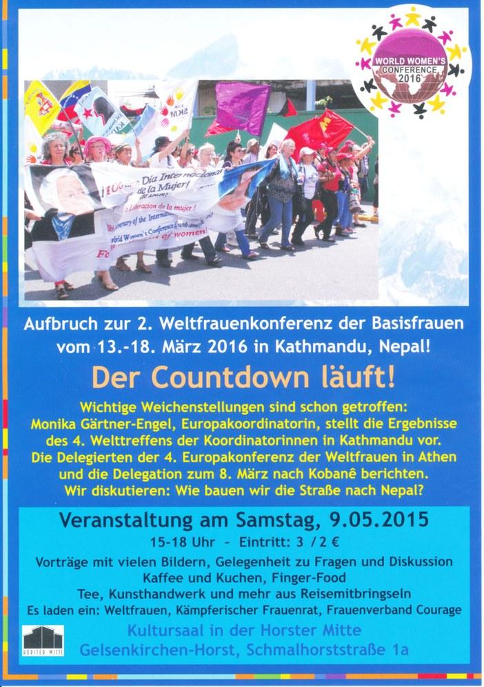 """""""Der Countdown zur Weltfrauenkonferenz läuft"""""""