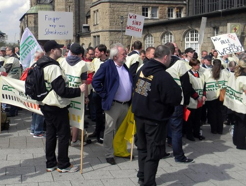 Solidarität mit den streikenden Lokführern entwickelt sich
