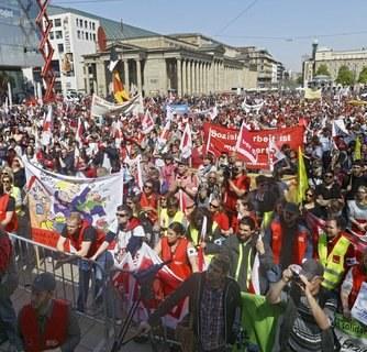 Schorndorf: Gewerkschafter gaben Bürgermeister die passende Antwort