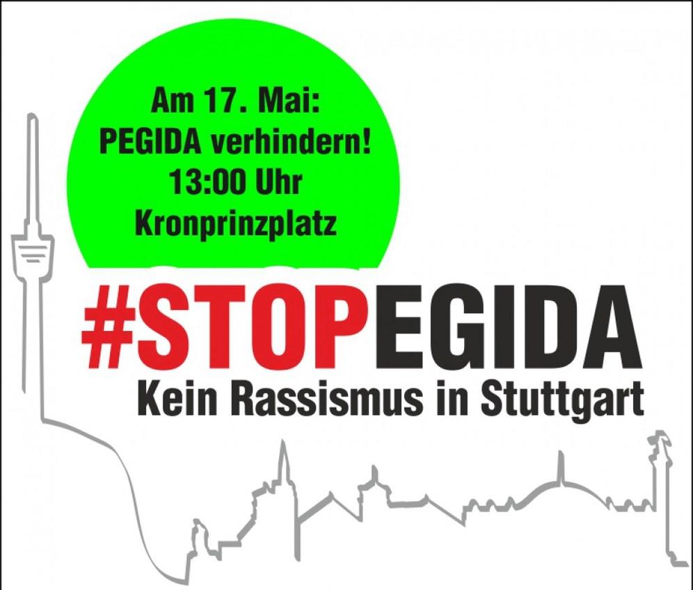 """""""Pegida"""" kommt nach Stuttgart - Wir sind schon da!"""