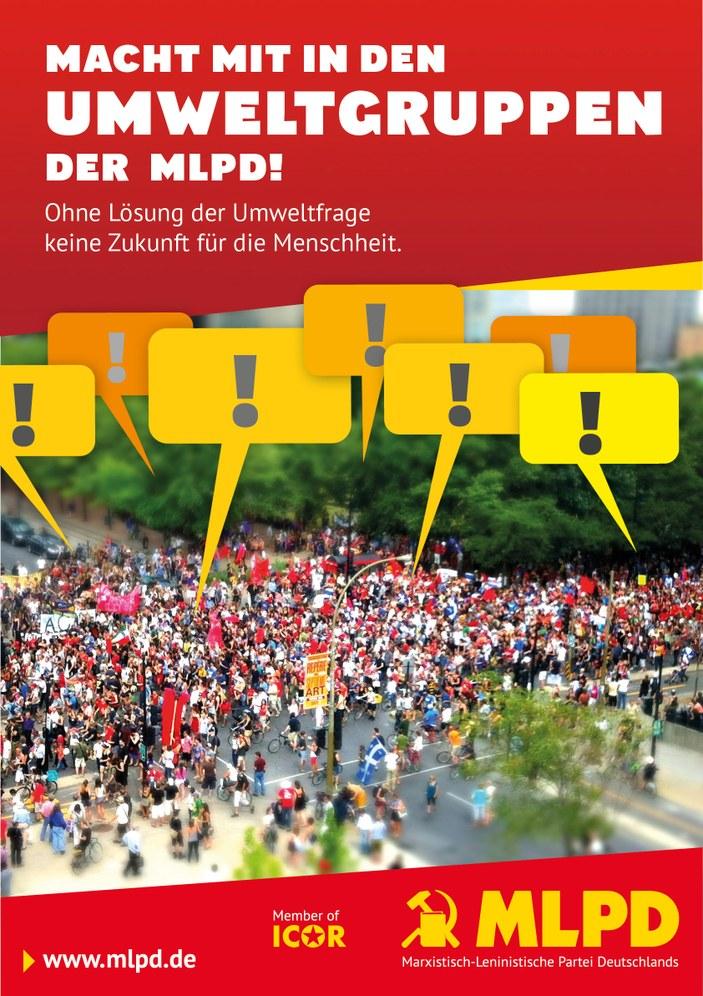 Neue Plakate für die Umweltgruppen der MLPD