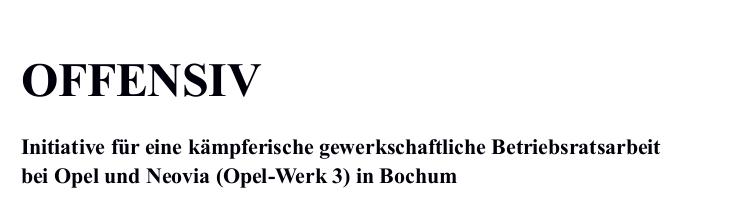 Bochum: Wichtiger Erfolg für Opelaner vor Gericht