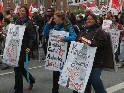 Große Empörung über Ablehnung der Forderungen im Erziehungs- und Sozialdienst