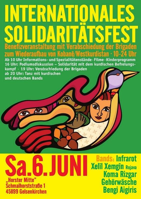 """Solidaritätsfest """"Freiheit für Rojava"""" am 6. Juni"""