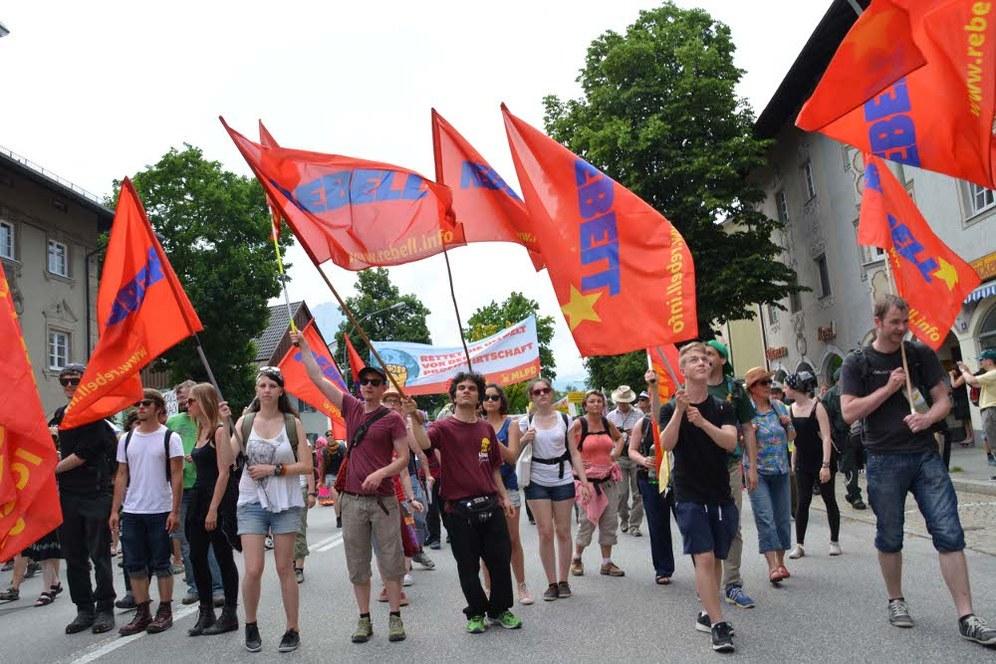 """""""Stop G7"""" – Bis zu 5.000 demonstrieren in Garmisch-Partenkirchen gegen den G7-Gipfel"""