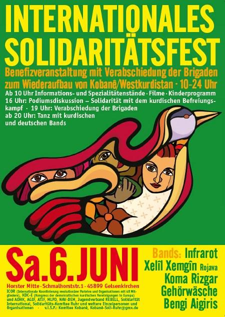 Internationales Solidaritätsfest: Programm zum Ausdrucken