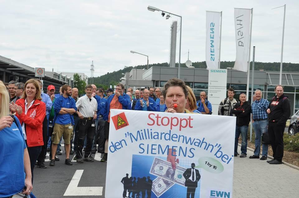 Bundesweiter Siemens-Aktionstag: 1.200 Kolleginnen und Kollegen in Nürnberg auf der Straße