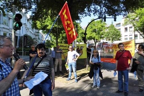 Protest vor dem türkischen Generalkonsulat in Hamburg