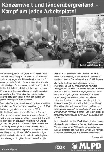 Siemens-Aktionstag: Tausende Beschäftigte sind im Streik