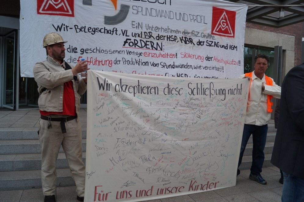 Selbständiger Streik gegen Stilllegungsbeschluss bei HSP