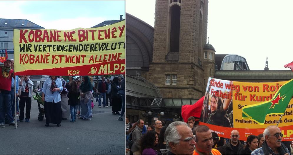 Solidaritätsdemonstrationen für Kobanê