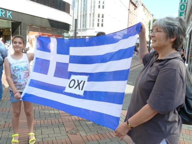 Gelsenkirchen: Montagsdemo solidarisch mit dem griechischen Volk