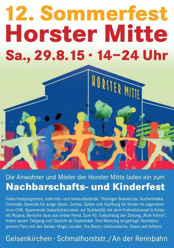 """Programm-Highlights des 12. Sommerfests in der """"Horster Mitte"""" in Gelsenkirchen"""
