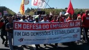 Unbefristeter Streik bei GM in Brasilien: Solidaritätserklärungen dringend nötig!