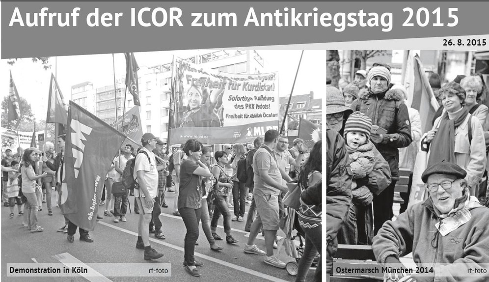 Aufruf der ICOR zum Antikriegstag 2015
