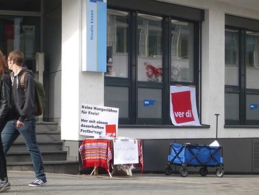 """WDR-Studio Essen: """"Wir sind kampfbereit!"""""""