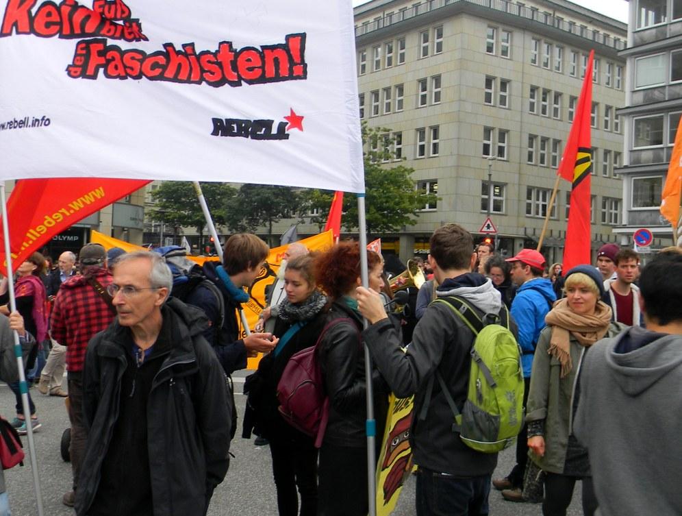 Nazi-Aufmarsch in Hamburg verboten und verhindert