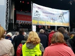 Bergarbeiterfrauen auf der 125-Jahr-Feier der IGBCE