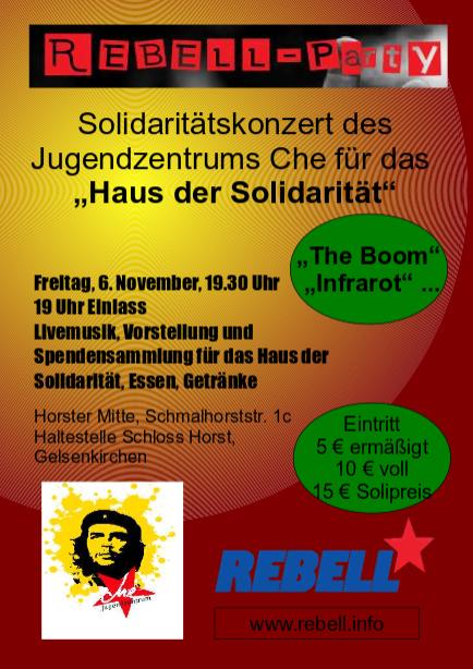 """REBELL: Solidaritätskonzerte mit den Menschen in Kobanê und dem """"Haus der Solidarität"""""""