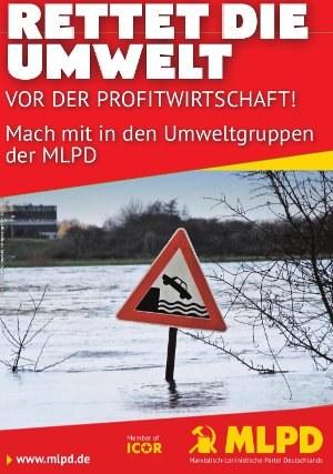 Plakate für Umweltgruppen der MLPD erscheinen Ende Oktober