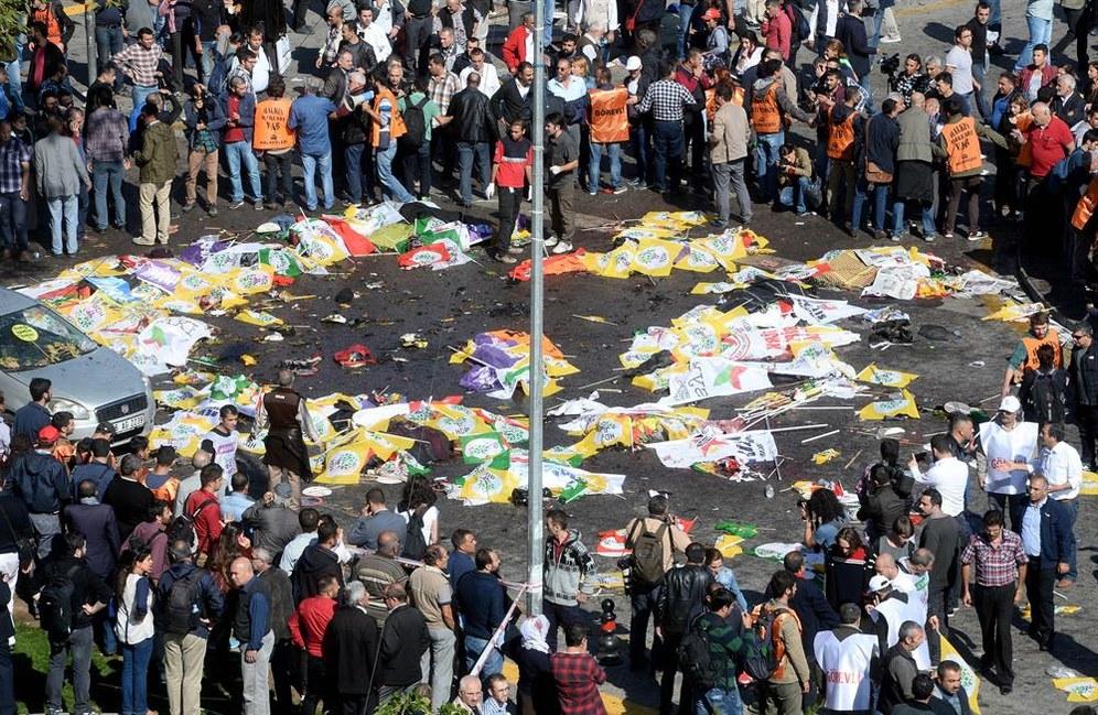DGB-Gedenken für Opfer des faschistischen Bombenattentats vom 10. Oktober in Ankara