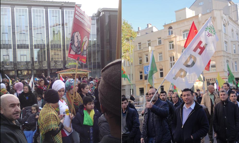 Welt-Kobanê-Tag: Tausende tragen Rojava mit Stolz auf deutsche Straßen