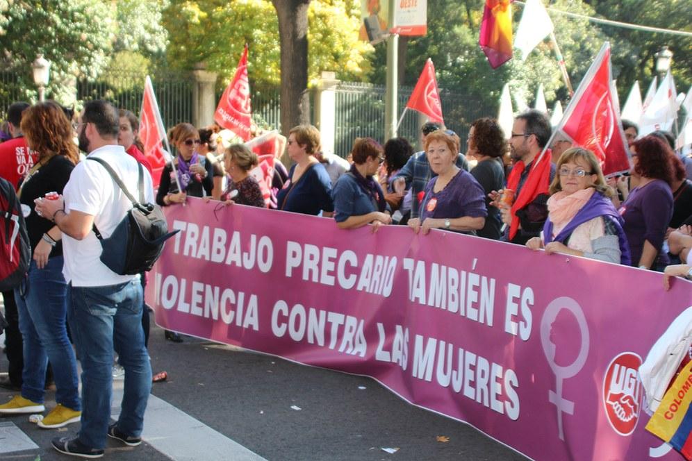 Madrid: Massendemonstration gegen Gewalt an Frauen und Frauenfeindlichkeit
