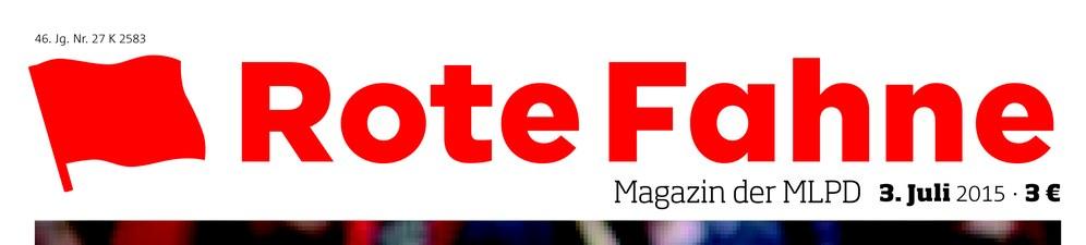 "Thema des nächsten ""Rote Fahne"" Magazins"