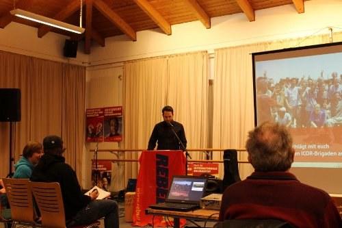 Kämpferische Veranstaltung zu den Solidaritätsbrigaden in Rostock