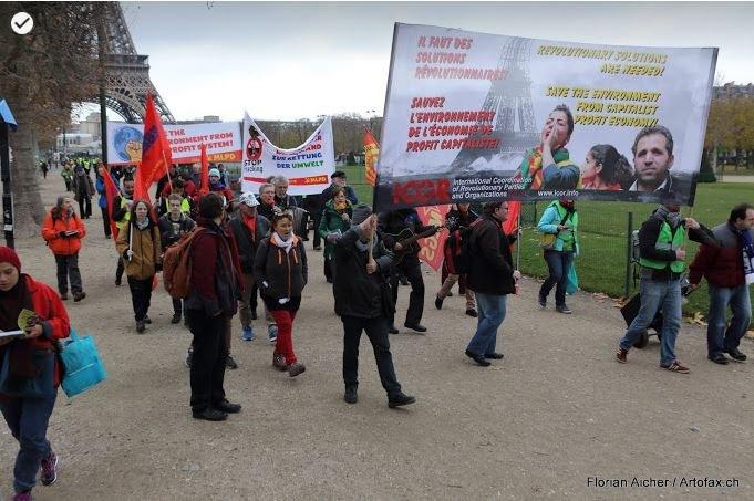 Bildergalerie zur Pariser Demo von ICOR Europa