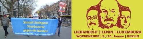 Berlin: Ein Zeichen der internationalen Solidarität gegen Erdogans Staatsterror am Jahresbeginn – Jetzt auf zur LLL-Demo