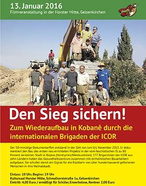 Premiere des Kobanê-Brigaden-Films am 13. Januar in Gelsenkirchen