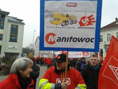 Bezirk Küste: 2.000 demonstrieren zum Auftakt der Tarifrunde
