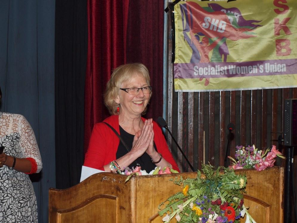 Abschlussplenum der 2. Weltfrauenkonferenz in Kathmandu/Nepal