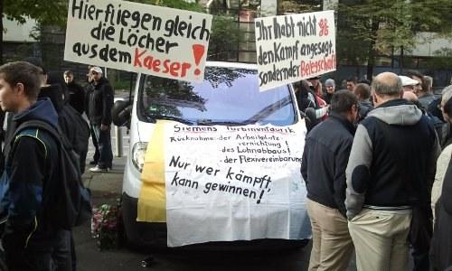 Große Proteste gegen Siemenskonzern