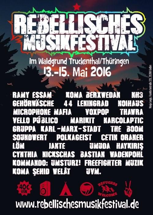 Rebellisches Musikfestival steht gegen Naziumtriebe in Thüringen